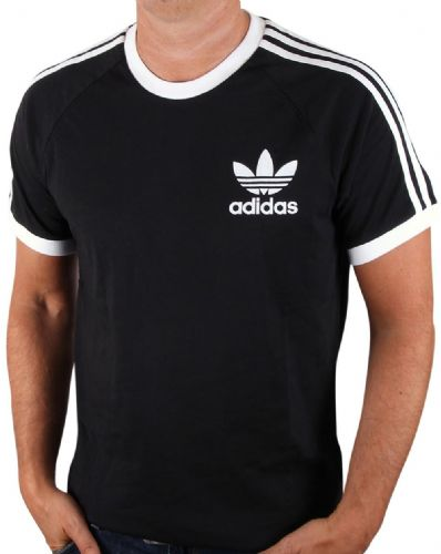 Adidas Originals Men's Crew Neck Retro Trefoil Casual T Shirt Tee Black.